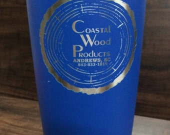 SINGLE SIDED 20oz Custom powder coated and Laser Engraved tumbler personalized, great for weddings, birthdays, holiday or special occasion