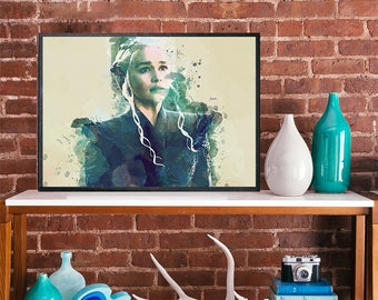 game of thrones khaleesi daenerys targaryen Emilia Clarke art poster