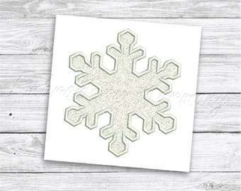 Snowflake Applique design - 10 SIZES machine embroidery file -  INSTANT DOWNLOAD