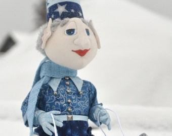 Jasper the elf. Fabric doll, Christmas gift, stuffed toy, decoration doll, interior toy, Эльф по имени Джаспер. Текстильная кукла