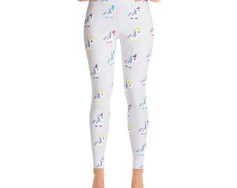 Unicorn Fun Print Leggings - Womens Leggings - Yoga Pants - Yoga Leggings - Ladies Leggings - Adult