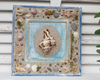 Maritime Decoration - Home decor accents - Sea art - Nautical home inspiration - Beach Style - Nature and Home - Wedding gift - Sea shells