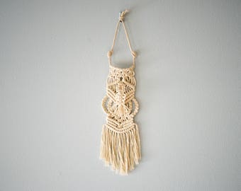 Tassel Macrame Wall Hanging Made With Cotton Cord