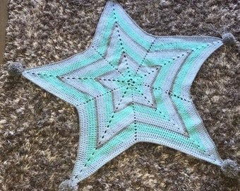 Star Crochet Baby Blanket