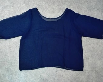 short see-through vintage tummy top