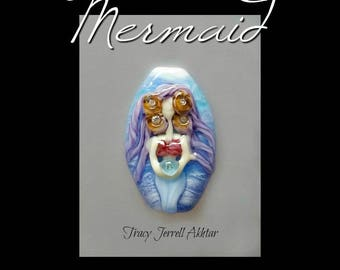 Mermaid Lampwork Glass Focal Bead by Tracy Jerrell Akhtar
