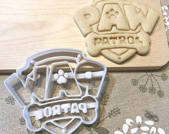 Paw Patrol Cookie Cutter - Paw Patrol Badge Logo Symbol Dog Pup Puppy Fondant Icing Cake Cupcake Topper Mold Mould kid Birthday Party Favor