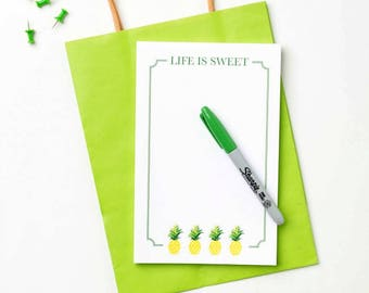 Life Is Sweet Notepad