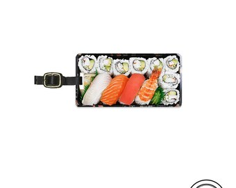 Luggage Tag Sushi Bento Box Luggage Metal Tag Personalized Japanese Sushi Kawaii Food Single Tag