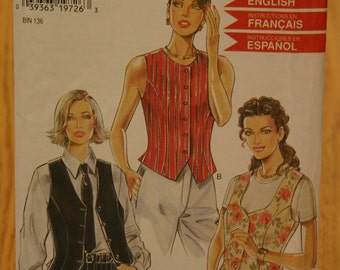 New Look by Simplicity Misses Vest Pattern 6576 Sizes 6-16