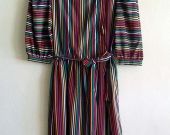 rainbow stripe dress, small medium
