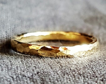 men wedding band gold ring wedding ring hammered band ring classic wedding - Ring For Wedding