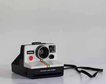 Vintage SX-70 OneStep Polaroid Land Camera with Rainbow Stripe