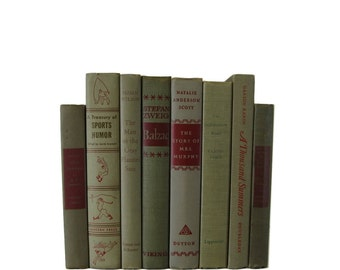 Shades of  Tan  Taupe Gray  Vintage Decorative Books Book Decor