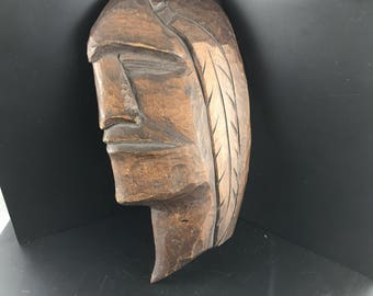 BC First Nations Wood Carving  |  Hawk Gibsons BC  | Northwest Coast Indian Art  |  Aboriginal  carving No.201
