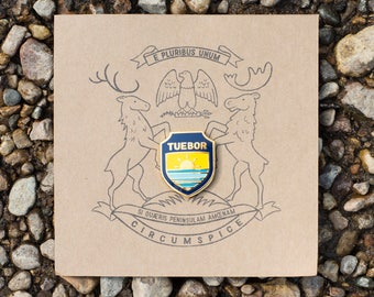 PRE ORDER - Tuebor - I Will Defend - Charity Enamel Pin - Donate to Save the Great Lakes