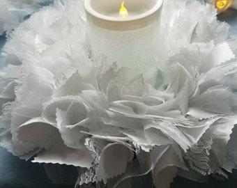 Lighted Centerpiece, Wedding Lighted Centerpiece, Lighted Wreath, Wedding Table Centerpiece, Wedding Candle Centerpiece, Wedding Lighting