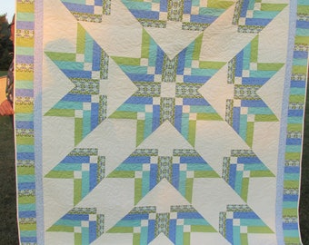 Beautiful Star Quilt Twin Full Size