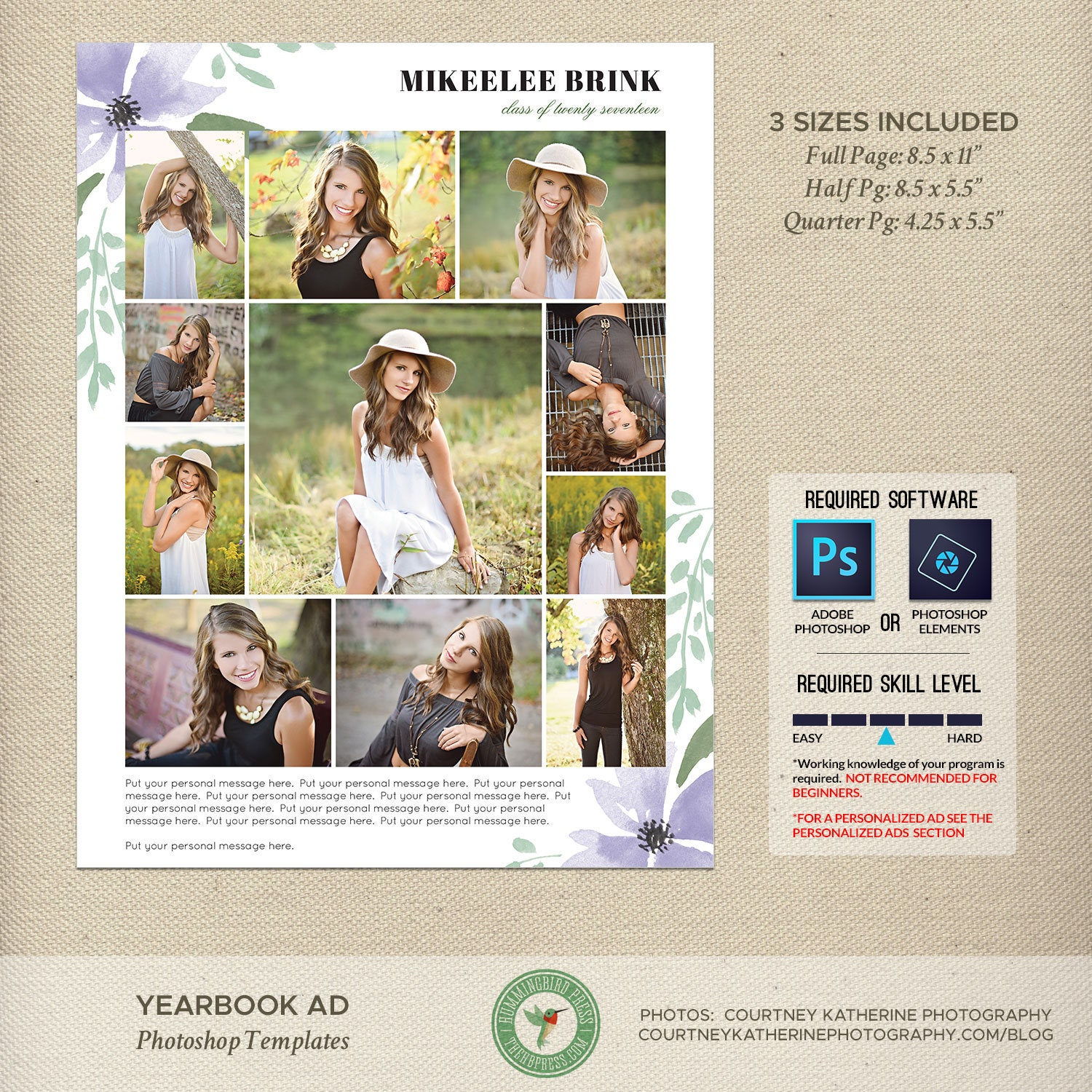 senior yearbook ad templates graduation ad high school. Black Bedroom Furniture Sets. Home Design Ideas