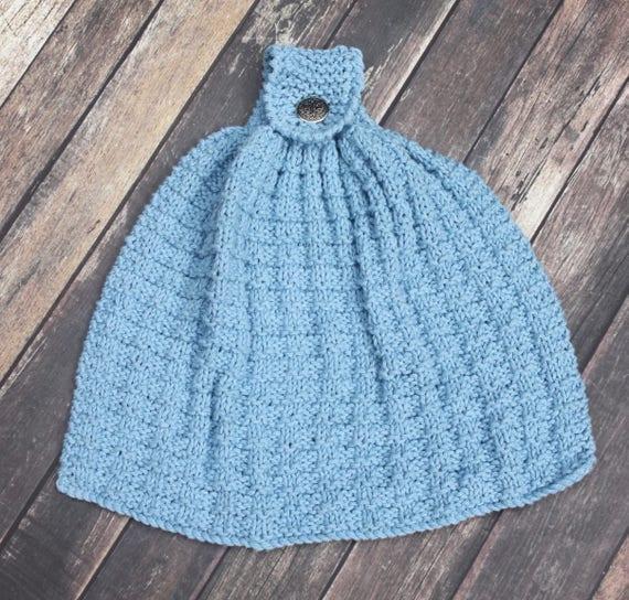 Knitting Pattern Knit Hand Towel Kitchen Towel PDF