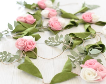 Pretty N' Pink Felt Flower Garland