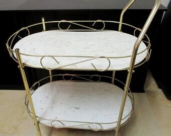 Mid Century Rolling Bar Cart