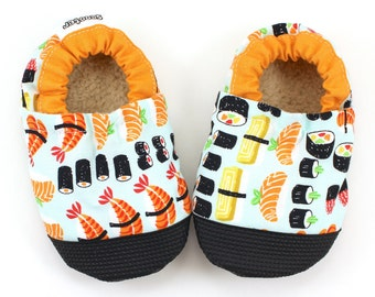 sushi baby shoes sushi booties sushi clothing sashimi baby sushi slippers soft sole shoes sushi shoes japanese rubber sole shoes rubber toe