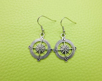 Compass Earrings stainless steel