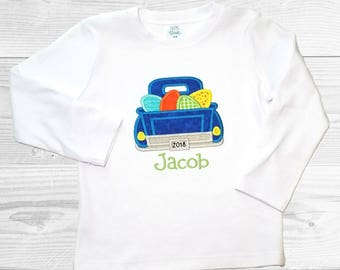 Boys Easter Shirt / Easter Truck Shirt / Baby Easter Onesie / Easter Shirt for Boys / First Easter Outfit / Easter Egg Shirt / Embroidery