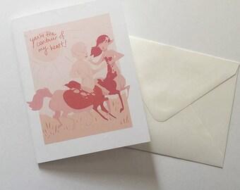Centaur Love Card v2 You are the Centaur of my Heart Digital Download