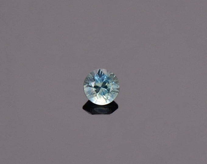 SALE EVENT! Sky Blue Green Sapphire Gemstone from Montana, Round, 0.77 cts., 5.2 mm.