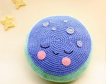 Sleeping Moon Pillow, Decorative Cushion, Moon Plush, Kids Bedding, Baby Cushion, Kids Room Decor