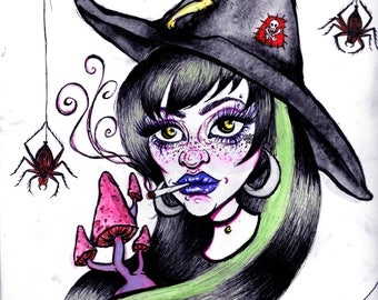 Witchy Halloween Prints