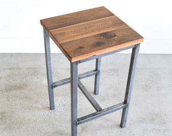Rustic Bar Stools made from Reclaimed Barn Wood / Backless Counter Stools