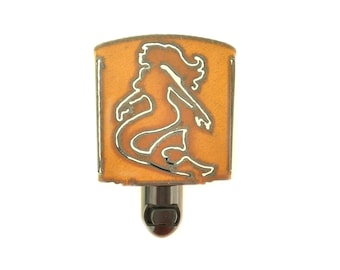 Mermaid Rusty Metal Night Light