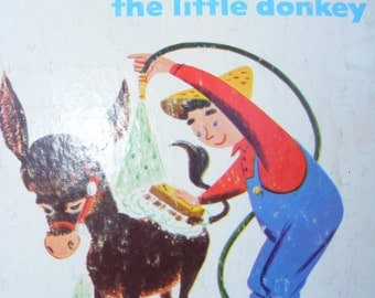 Vintage 1952 Lucinda the Donkey Book - A Rand McNally Elf Book, Irma Wilde