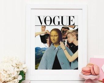 Vogue Print - Wall art posters  - Mona Lisa