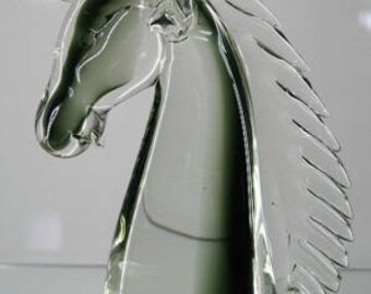 Murano Crystal Horse sculpture chest-image.
