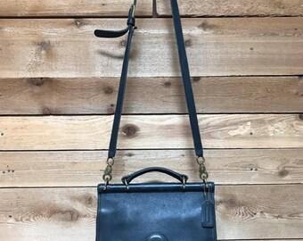 Vintage Coach Willis Bag Vtg Black Leather Crossbody Designer Purse Made in USA 9927