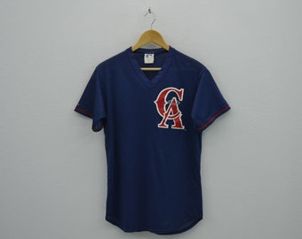 Angels Jersey Vintage Los Angeles Angels Baseball Jersey MLB Majestic Vintage Activewear Made in USA Mens Size S/M