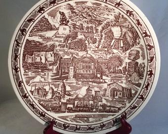 Arizona Commemorative Plate by Vernon Kilns