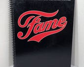 Fame Soundtrack Album Cover Notebook Handmade Spiral Journal