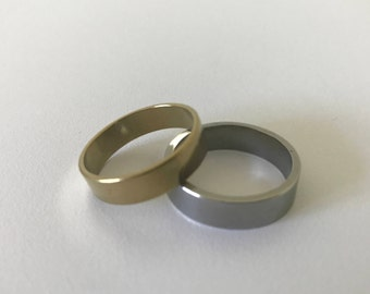 Silver and Gold Stainless Steel Rings