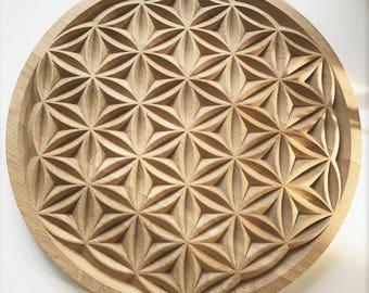 flower of life sculpture / Sacred Geometry / fleur de vie sculptée / geométrie sacrée