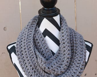 Ready to Ship Ash Gray Infinity Scarf