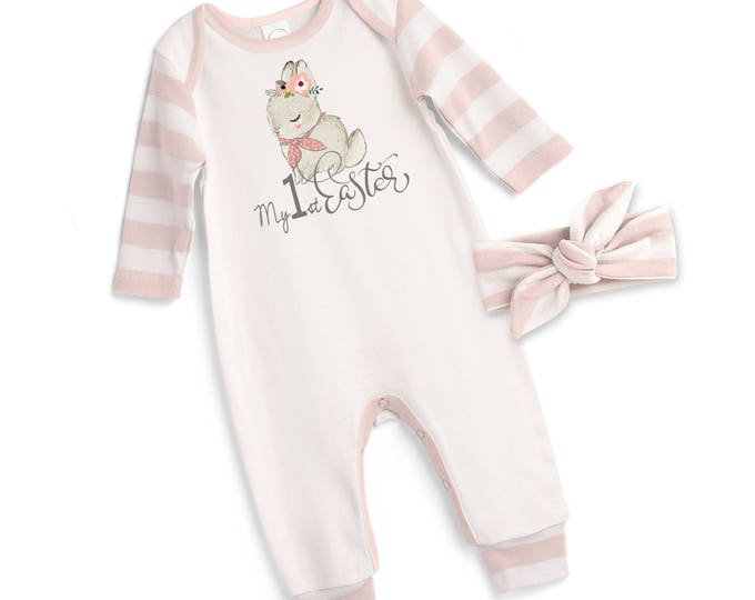 Baby Girl Easter Outfit, Baby Girl Easter Bunny Bodysuit, Infant Girl Easter Onesie, Newborn Easter Baby Girl Outfit, Pink Tesababe