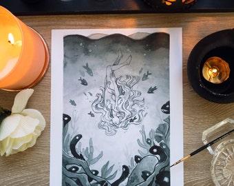 "INKTOBER ""Underwater"" Print"