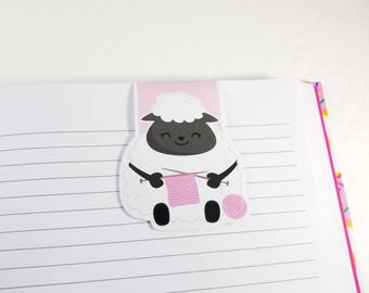 Lamb Magnetic Bookmark, Kawaii Sheep Planner Clip, Cute Little Lamb Planner Accessory for Books, Book Lovers, Cookbooks, Love Reading