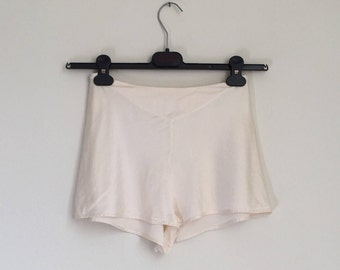 Vintage Silk Tap Pants by Italian maker Primizia / Ivory Colored / Made in Italy / Size XSmall Small / XS S
