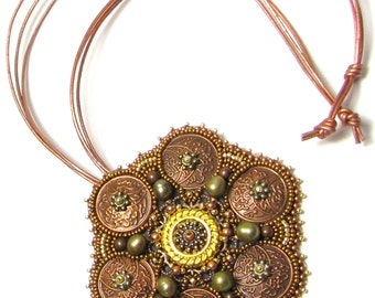 Brooch/Necklace of Thrones Bead Embroidery Brooch Kit by Ann Benson